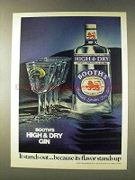 1976 Booth's High & Dry Gin Ad - It Stands Out