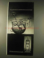 1976 Old Bushmills Irish Whiskey Ad - Into His Glass