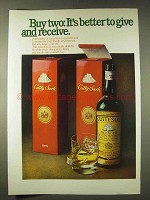 1976 Cutty Sark Scotch Ad - Better To Give and Receive