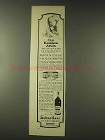 1976 Sebastiani Vineyards Ad - Our Resident Artist