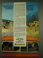 1976 Caterpillar Tractor Co. Ad - Rebuilding Roads