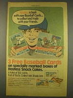 1976 Hostess Cup Cakes and Twinkies Ad - Baseball Cards