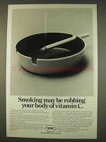 1976 Roche Vitamin C Ad - Smoking Robbing Vitamin C