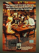 1976 Holiday Inn Ad - The Restaurant Was Open
