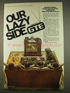 1976 GTE Sylvania GT-Matic Television Ad - Lazy Side
