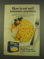 1976 Kraft Macaroni & Cheese Deluxe Dinner Ad - Paydays