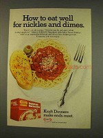 1976 Kraft Spaghetti with Meat Sauce Dinner Ad