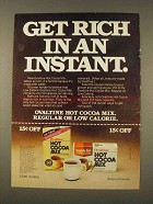 1976 Ovaltine Hot Cocoa Mix Ad - Get Rich in Instant