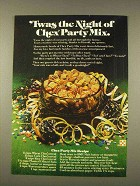1976 Ralston Chex Cereal Ad - Twas Night of Party Mix