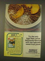 1976 Nabisco 100% Bran Cereal Ad - Fruit Juices
