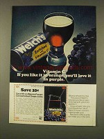 1976 Welch's Grape Juice Ad - Vitamin C in Purple