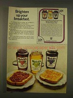 1976 Welch's Grape Jelly Ad - Brighten Up Breakfast