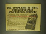 1976 Slim Jim Beef Snacks Ad - Not A Werewolf
