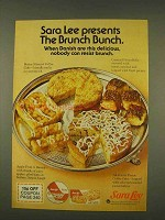 1976 Sara Lee Ad - Butter Streusel Coffee Cake