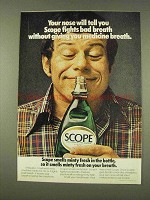 1976 Scope Mouthwash Ad - Fights Bad Breath