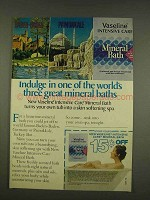 1976 Vaseline Intensive Care Mineral Bath Ad - Indulge