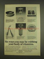 1976 Roche Vitamins Ad - Robbing Body of Vitamins