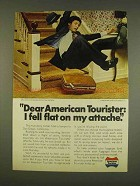 1976 American Tourister Luggage Ad - Fell Flat Attache