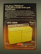1976 Kmart Whirlpool Washer LDA-6680, Dryer LDE-6680 Ad
