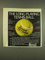 1976 Bancroft Tretorn Tennis Ball Ad - Long Playing