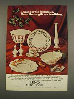 1976 Lenox Ad - Egg Server, Symphony Centerpiece