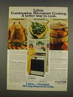 1976 Litton Combination Microwave Range Ad