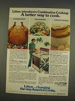 1976 Litton Combination Microwave Range Ad - Better Way