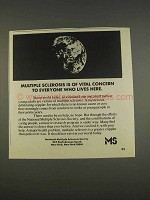 1976 National Multiple Sclerosis Society Ad - Concern