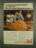 1976 Owens-Corning Fiberglas Insulation Ad - Cut Gas
