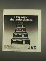 1976 JVC Stereo Receivers Ad - Here Come Professionals