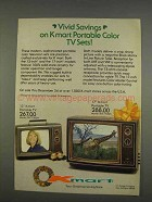 1976 Kmart Model SKC1300A and SKC1700A Televisions Ad