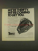 1976 Thrifty Rent-a-car Ad - Coming to Get You