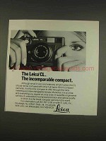 1976 Leica CL Camera Ad - Incomparable Compact