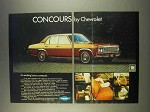 1976 Chevrolet Concours Car Ad