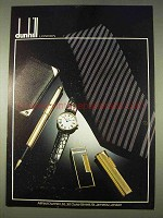 1978 Dunhill Pens, Watches, Lighters and Accessories Ad