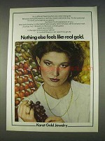 1978 Karat Gold Jewelry Ad - Nothing Else Feels