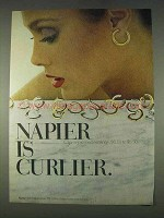 1978 Napier Clip or Pierced Earrings Ad - Curlier