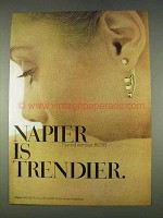 1978 Napier Pierced Earrings Ad - Trendier