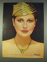 1978 Monet Entre-Nous Collection Necklace & Earrings Ad
