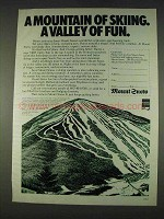 1978 Mount Snow Vermont Ad - A Mountain of Skiing