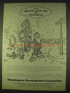 1978 Washington Development Corporation Ad - Christmas