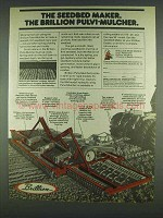 1978 Brillion Pulvi-Mulcher Ad - The Seedbed Maker