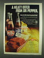 1978 Dr Pepper Soda Ad - A Meaty Offer