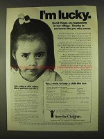 1978 Save the Children Ad - I'm Lucky