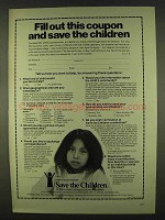 1978 Save the Children Ad - Fill Out This Coupon
