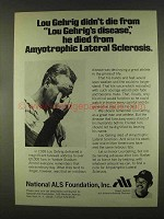 1978 National ALS Foundation Ad - Reggie Jackson