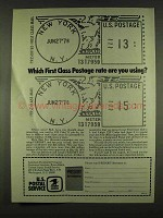 1978 U.S. Postal Service Ad - Which First Class Rate