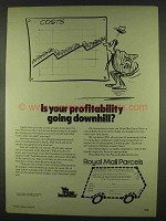 1978 Royal Mail Parcels Ad - Your Profitability