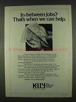 1978 Kelly Services Ad - In-Between Jobs?