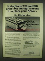 1978 Savin 760 Large Document Copier Ad - Reasons